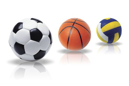 Illustration of a balls for sport on a white background