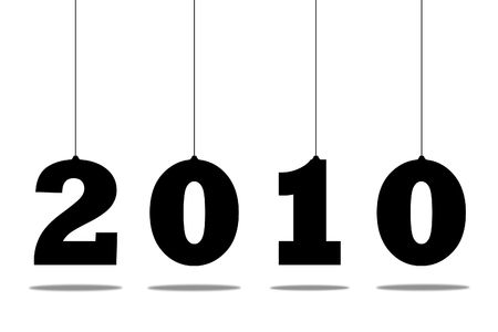 Illustration of numbers of new 2010 on a white background Stock Illustration - 6103373
