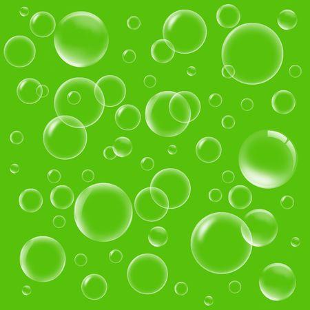 Illustration many flying soap bubbles in air illustration