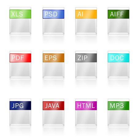 Many files with the shown permission and a format Stock Photo - 6209305