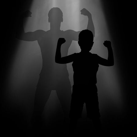 Shade from the child, the adult and developed man Stock Photo - 6563994