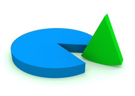 Illustration of a circle which shows statistics Stock Illustration - 6747756