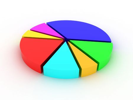 Illustration of a circle which shows statistics illustration