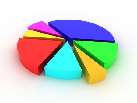 Illustration of a circle which shows statistics Stock Photo