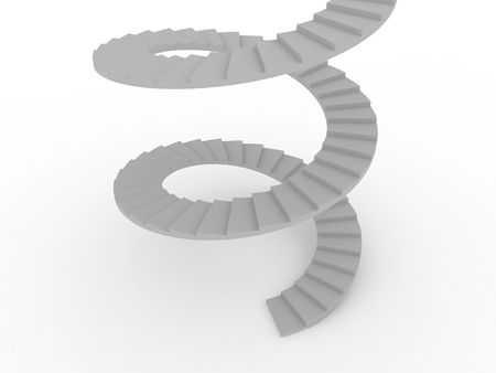 Illustration of the spiral staircase going upwards illustration