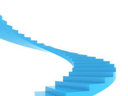 step up: Illustration of the spiral staircase going upwards