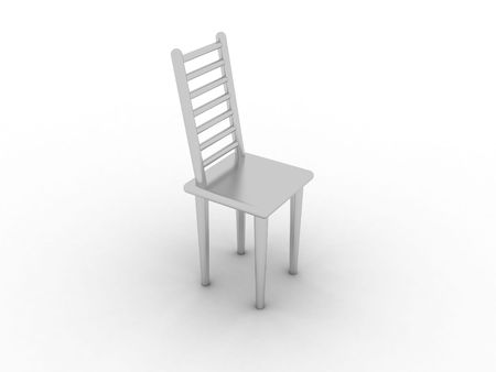 modelling: Illustration of model of a chair on a white background