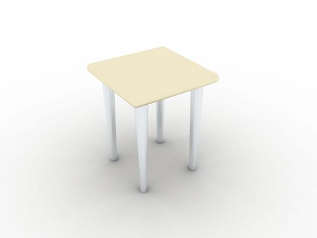 Illustration of model of a stool on a white background Stock Illustration - 7183537