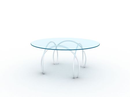 Illustration of a glass table on metal legs Stock Illustration - 7265861