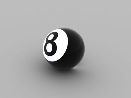 Illustration of a sphere for billiards with figure eight illustration
