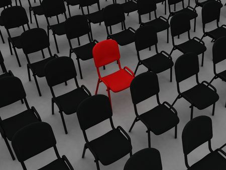 Illustration many numbers chair on a white background Stock Illustration - 7830334