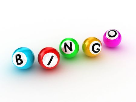 lottery win: Illustration of balls for game in bingo Stock Photo