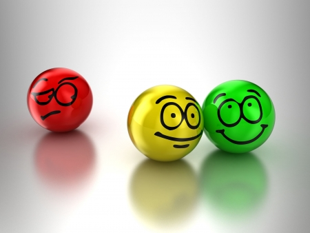 optimist: Illustration of persons expressing different emotions