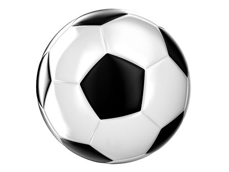 Illustration of a football ball on a white background Stock Illustration - 8078158