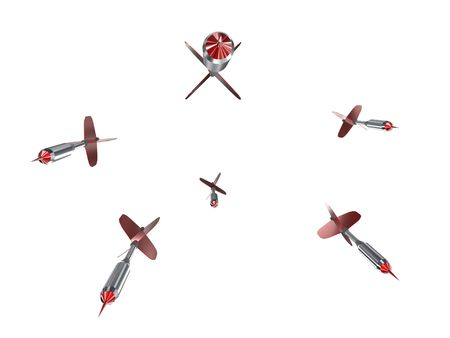 plumage: Illustration of arrows for game with red plumage
