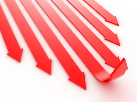 way forward: Illustration of the arrows directed forward and upwards Stock Photo