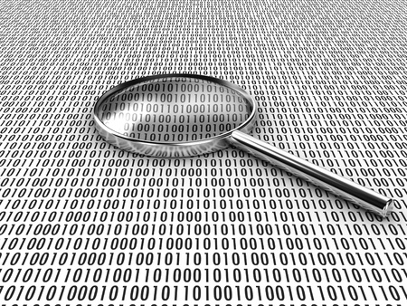 investiga��o: Figures of a binary code, are considered under a lens