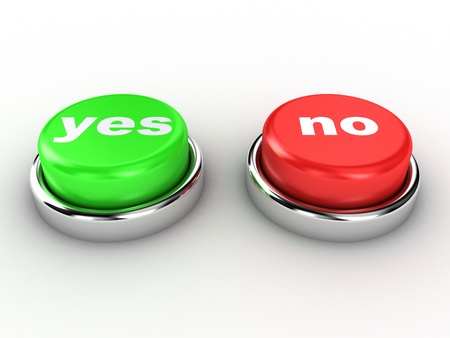 yes button: Illustration of the red and green button
