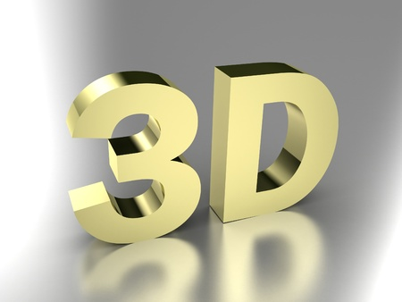 Illustration 3d images, as new technology illustration