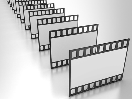 Illustration of a film of the camera on a white background illustration
