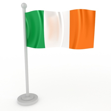 irish pride: Illustration of a flag of Ireland on a white background