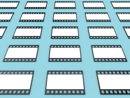 allocate: Illustration of a film of the camera on a blue background Stock Photo