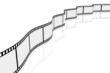 Long film of shots on a white background Stock Photo - 8499446
