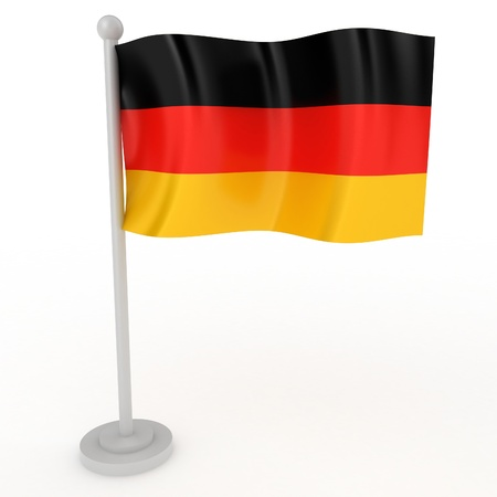 flag pole: Illustration of a flag of Germany on a white background