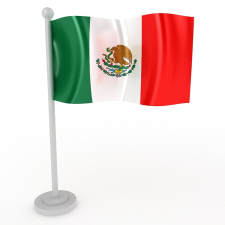 Illustration of a flag of Mexico on a white background illustration