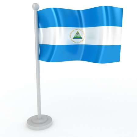 Illustration of a flag of Nicaragua on a white background illustration