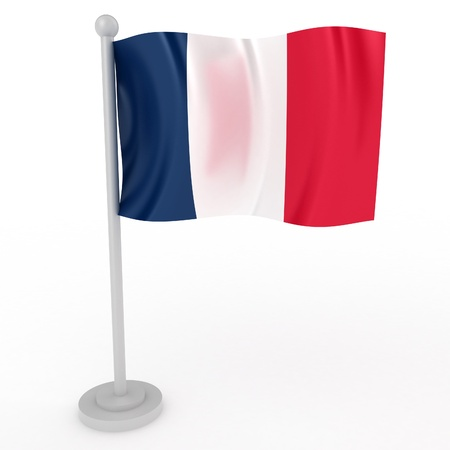 frenchwoman: Illustration of a flag of France on a white background Stock Photo