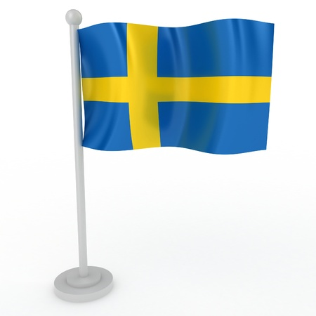 Illustration of a flag of Sweden on a white background Stock Illustration - 8554737