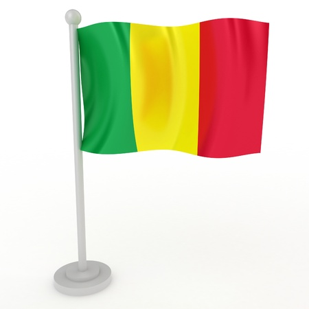 Illustration of a flag of Mali on a white background illustration