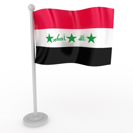 Illustration of a flag of Iraq on a white background illustration