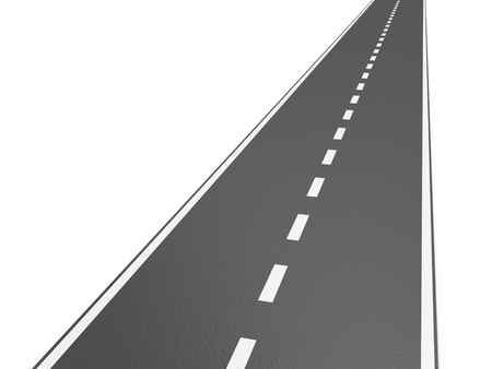 road work: Illustration of grey road on a white background Stock Photo