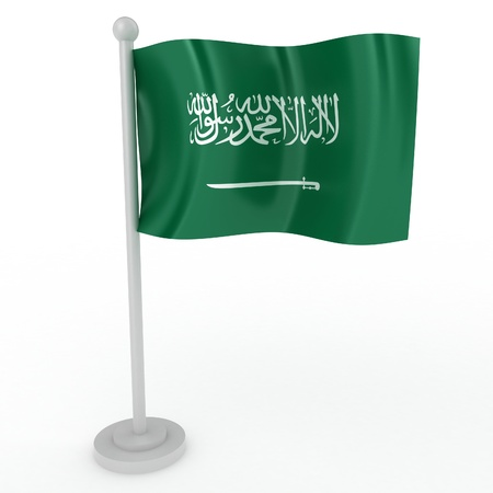 Illustration of a flag of Saudi Arabia on a white background illustration