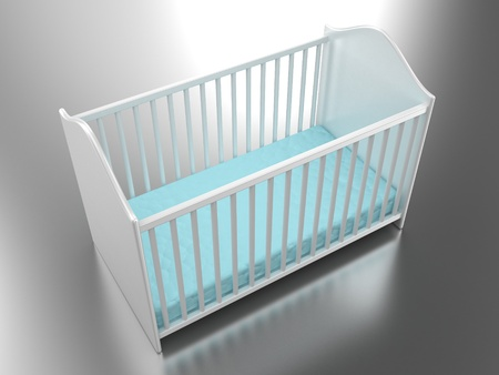Illustration of a bed for the child on a light background illustration