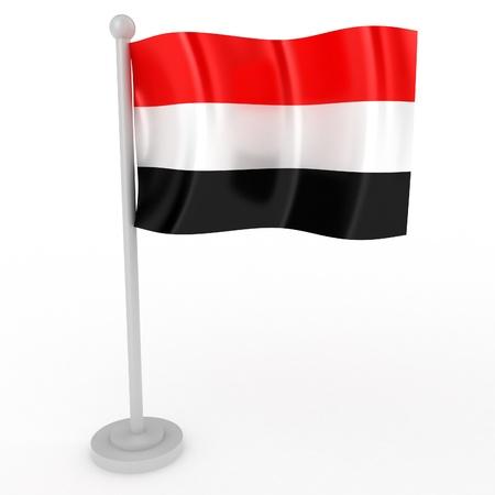 Illustration of a flag of Yemen on a white background illustration