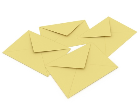 Illustration of an envelopes for mail on a white background Stock Illustration - 8661081