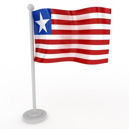 Illustration of a flag of Liberia on a white background illustration