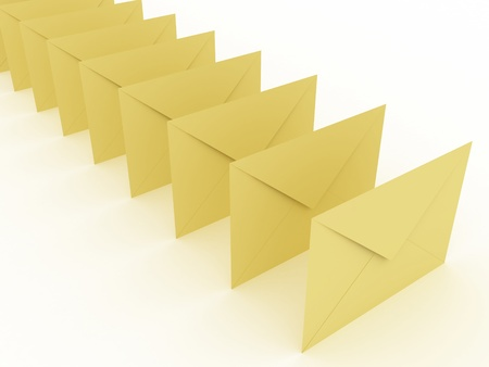 Illustration of an envelopes for mail on a white background Stock Illustration - 8853476