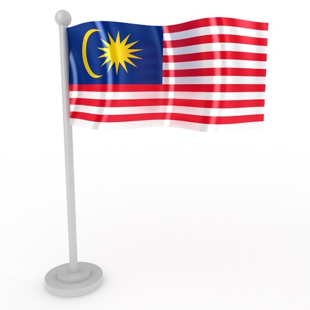 Illustration of a flag of Malaysia on a white background Stock Illustration - 8853487
