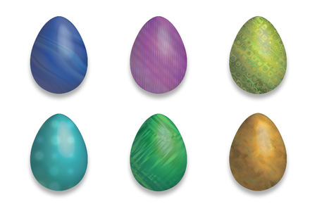 easter fluo eggs with decoration