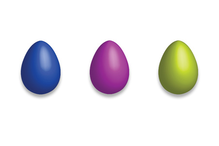 easter three fluo eggs