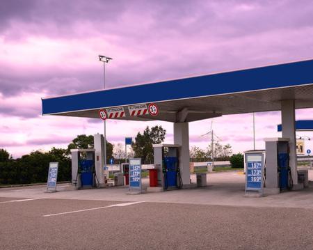 Stacja paliw Zdjęcie Seryjne