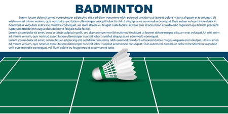 Badminton layout template for brochure or pages. Vector. illustration 3D. Illustration