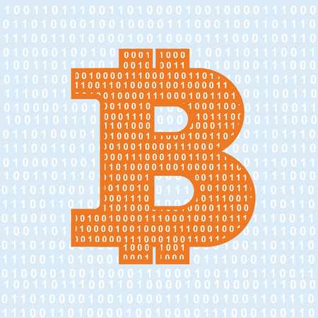 cryptography: Vector Bitcoin symbol. cryptography illustration