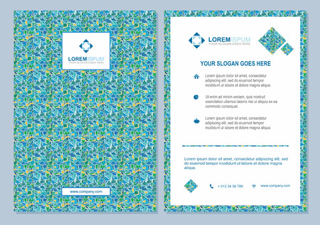 pattern corporate identity orange: brochure template with abstract polygonal pattern background. Flyer Layout. Identity design. Creative modern design