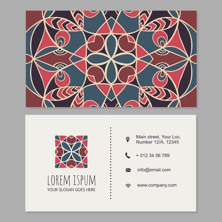 Visiting card or business card template boho style with mandala visiting card or business card template boho style with mandala royalty free cliparts vectors and stock illustration image 57028630 reheart Gallery