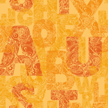 bue: Seamless pattern with decorative letters. Modern vector background